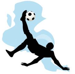 silhouette di calciatore