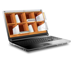 Notebook mit E-Mail, Postfach