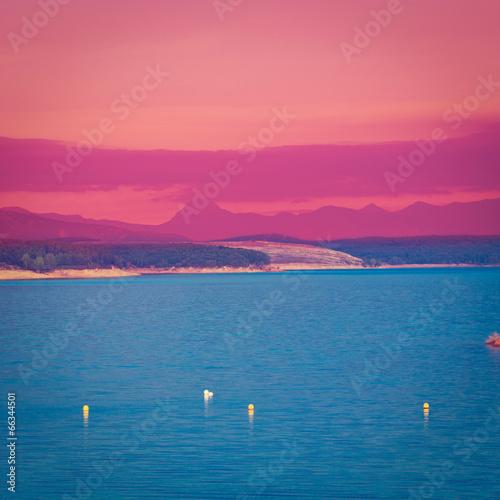 Plexiglas Roze Lake