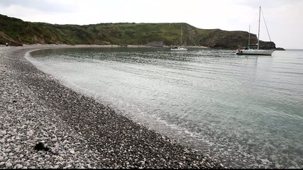 Sea level Lulworth Cove Dorset UK
