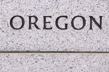 Oregon - stone engraving sign
