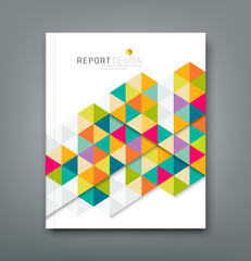 Cover report abstract colorful geometric template