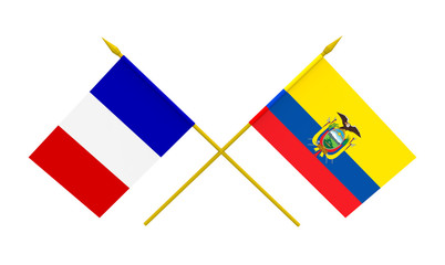 Flags, Ecuador and France