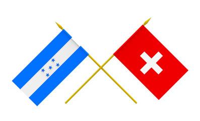 Flags, Honduras and Switzerland
