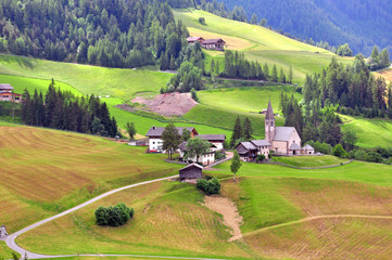 Italian village in Dolomites
