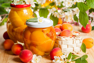 apricot and peach preserves