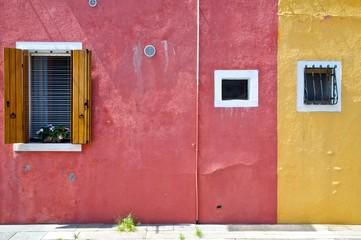 Burano's island  houses