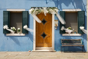 Just married in Burano's Island