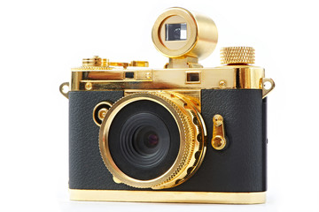Mini gift golden camera