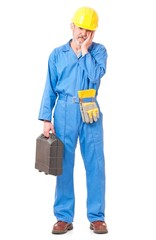 Puzzled worker