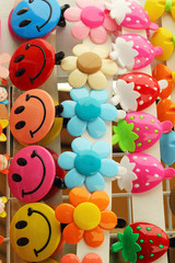 A lot of hairpin of colorful for sale.