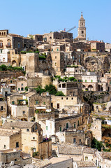 The Sassi of the Rupestrian city of Matera, Basilicata, Italy