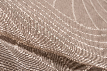 embroidered transparent net fabric
