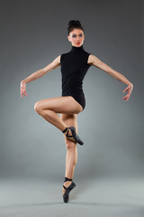 Posing ballet dancer
