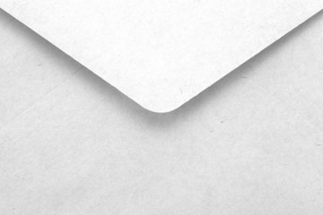 close - up empty white letter envelope