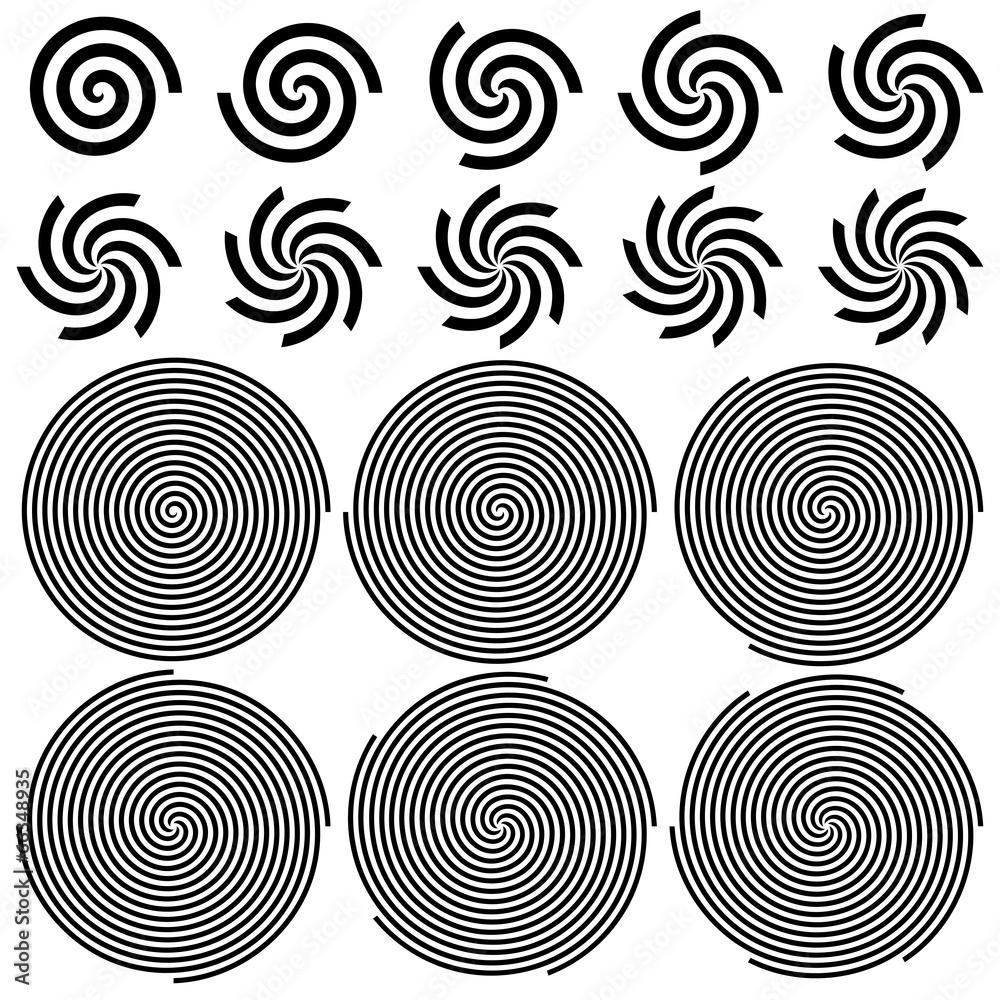 złudzenie optyczne tło hipnotyczny - powiększenie