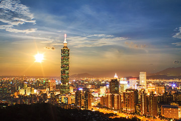 Nice view of Taipei City, Taiwan
