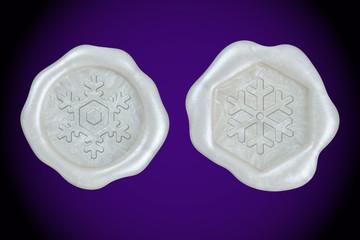 雪の結晶 封蝋セット