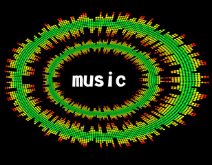 illustration  of music colorful equaliser bar