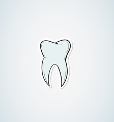 sketch of the tooth
