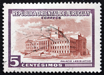 Postage stamp Uruguay 1954 Legislature Building, Montevideo