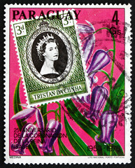 Postage stamp Paraguay 1978 Queen Elizabeth II Coronation