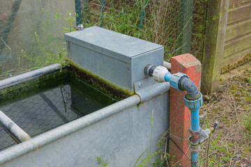 Outdoor garden water trough