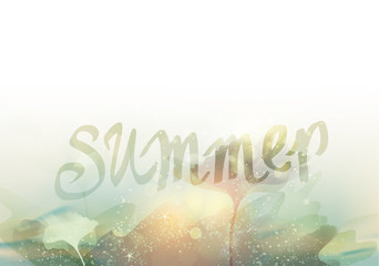 SUMMER / Season abstract background