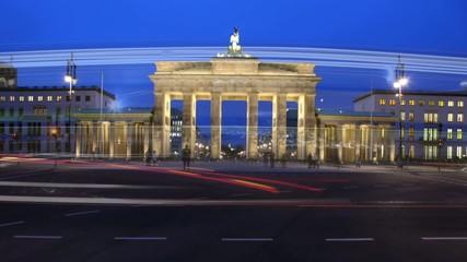Zeitraffer Brandenburger Tor, Berlin