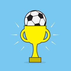 Soccer or football inside award trophy