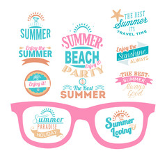 set de iconos de verano