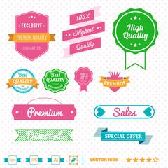 insignias y etiquetas para comercio