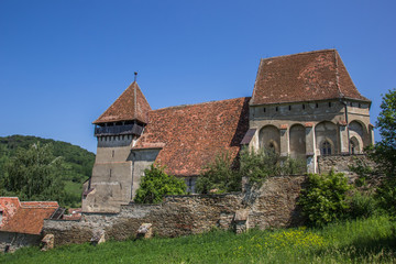 Fortified church in the Romanian town of Copsa Mare