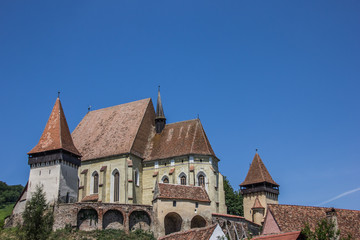 Fortified church in the town of Biertan