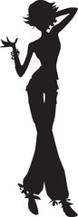 Lady Silhouette Vector Clipart Design Illustration