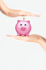 Protect your savings concept or time to save money