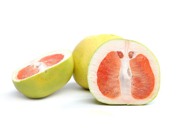 Grapefruit fruit on a white background.