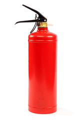 Fire extinguisher isolated on a white background.