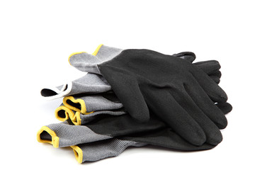 Work gloves on white background.