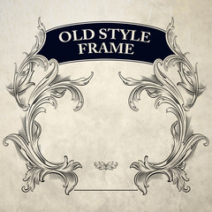 Vintage Frame. Vector Illustration