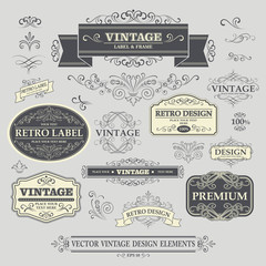 Vintage Element. Vector Illustration