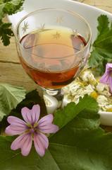 Liquore alla camomilla e malva Elixir of chamomile and mallow