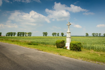 Landscape with cross,Poland