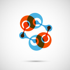 Vector abstract DNA icon eps