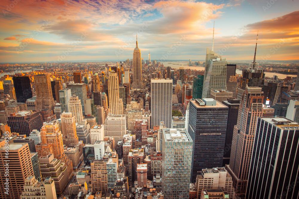 nowy jork gród krajobraz miasta - powiększenie