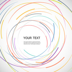 Vector color line twirl design