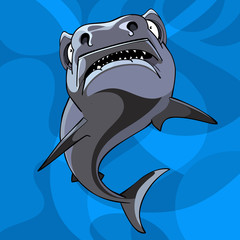 cartoon shark underwater
