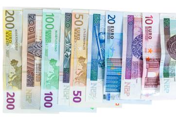 Euro and new polish zloty banknotes