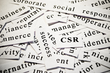 CSR. Concept of words related with business
