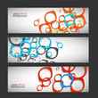 Set vector abstract style background